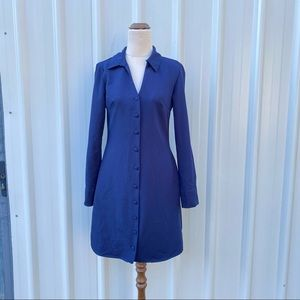 Trendyol Fitted Shirt Dress Size 6 Long-sleeve Button Down Retro Y2K